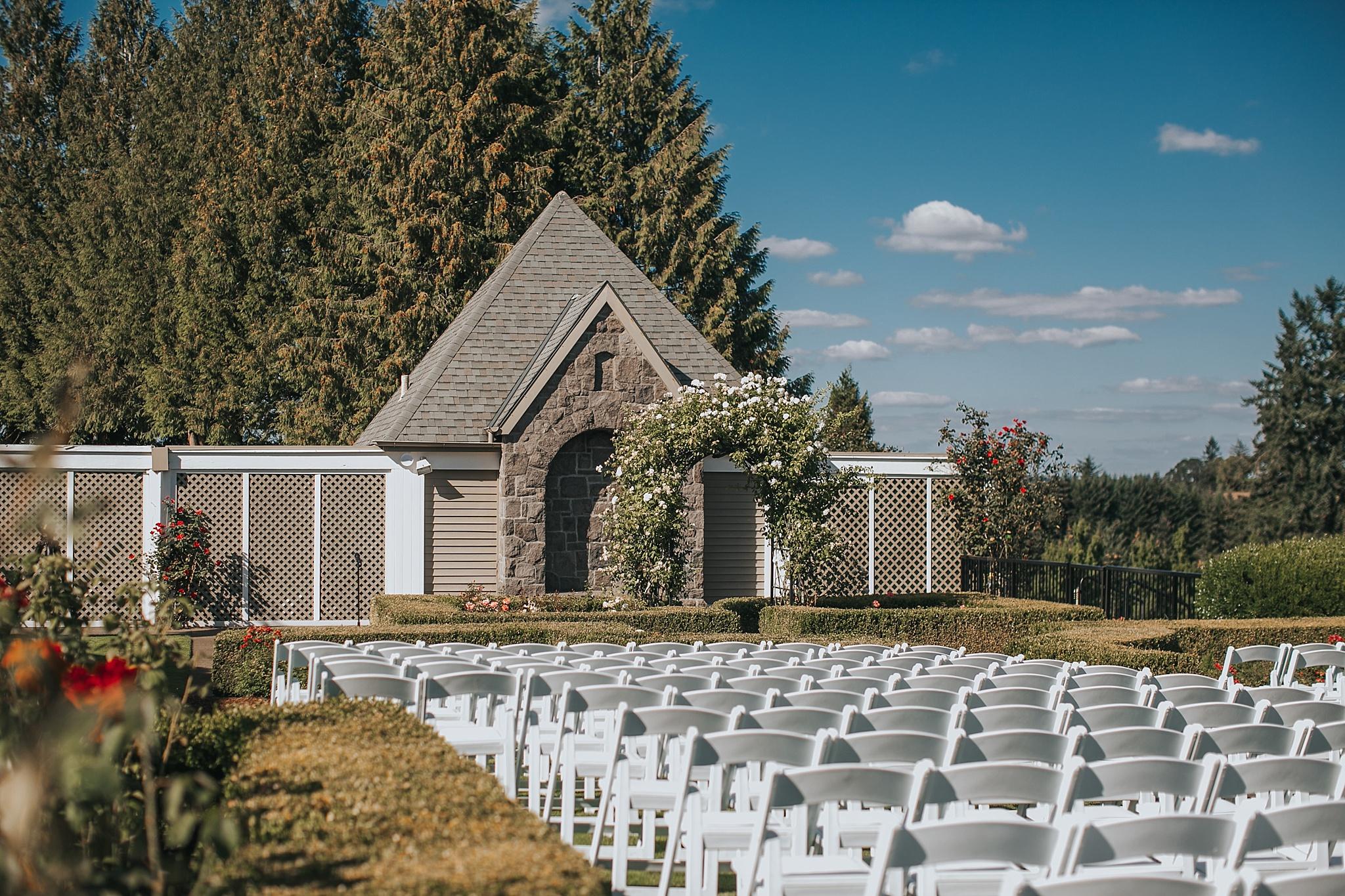 oregon golf club wedding ceremony